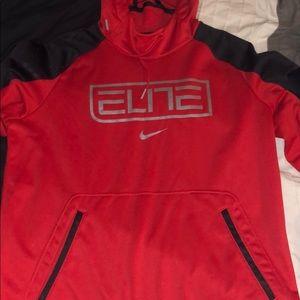 Nike Elite Basketball Red Thermal Hoodie